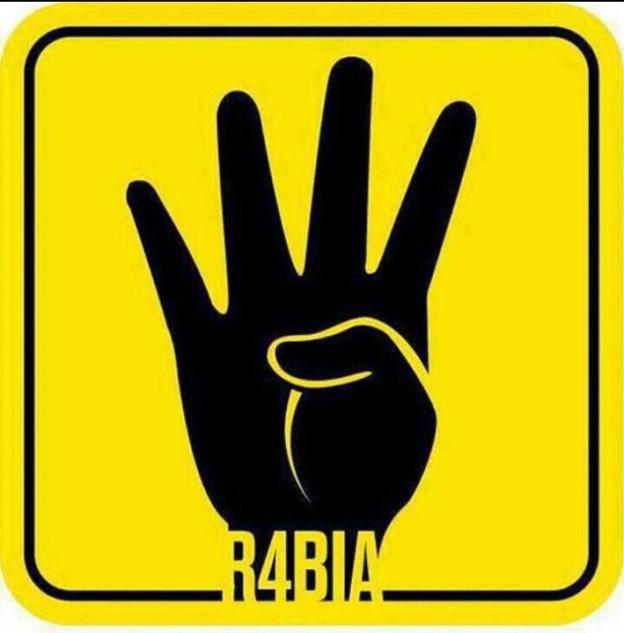 Simbol perjungan dan Solidaritas rakyat Mesir, Untuk mengenang Pembantaian di Ravi'ah Adawiyah